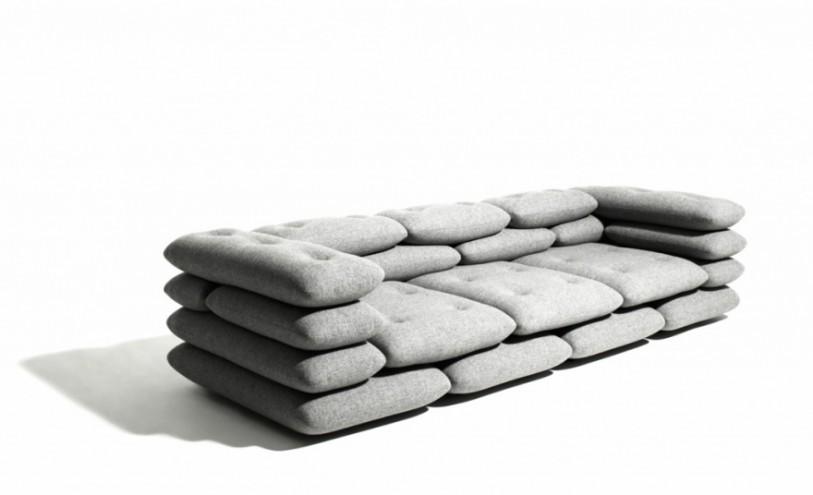 Brick sofa.