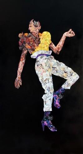 Fashion 1 2011, Mixed media on canvas. Photo: Guy Woueté.