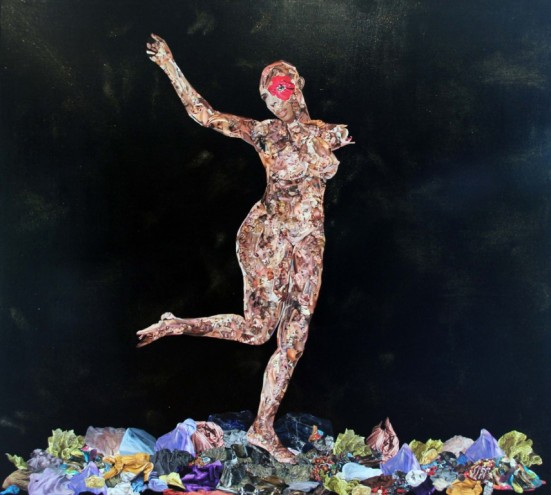 African Venus 2011, Mixed media on canvas. Photo: Guy Woueté.