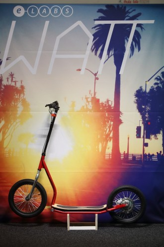 The Watt scooter is an electric push bike by E-labs.