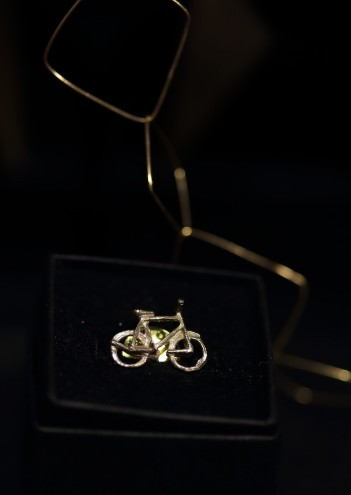Bicycle brooch by Smith Jewellery.