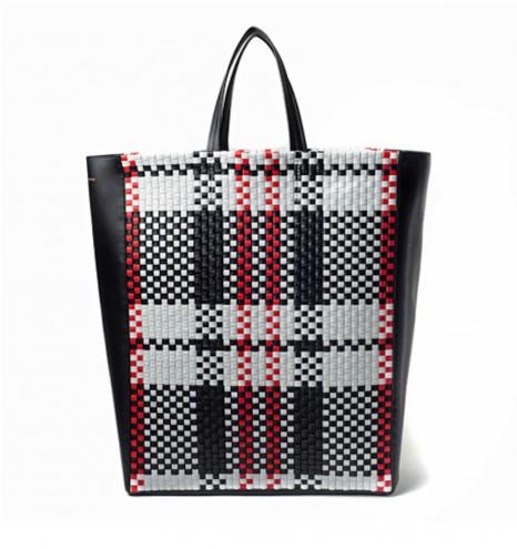 Plaid bag by Céline.