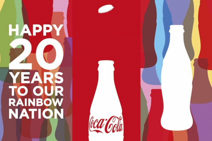 """""""A Rainbow for the Rainbow Nation"""" campaign for Coca-Cola South Africa."""