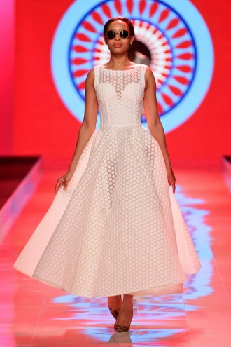 A Luta Continua collection by Taibo Bacar at Mercedes-Benz Fashion Week Africa 2014. Image: Simon Deiner / SDR Photo.