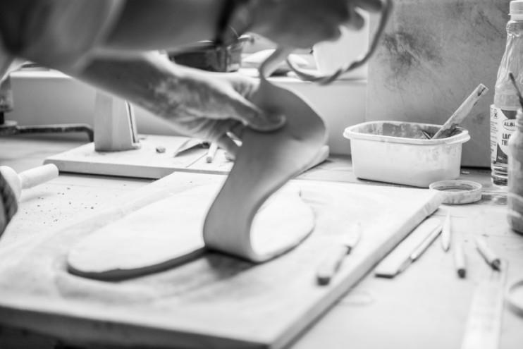 In the Klomp Ceramics studio
