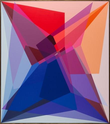 A028 78/69/14; Mixed media & spray paint on canvas; 1700 x 1900mm (framed)