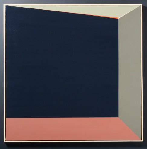 A026 2013; Spray paint on canvas; 1315 x 1315mm (framed)