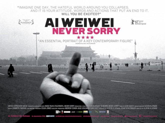 Ai WeiWei Never Sorry.