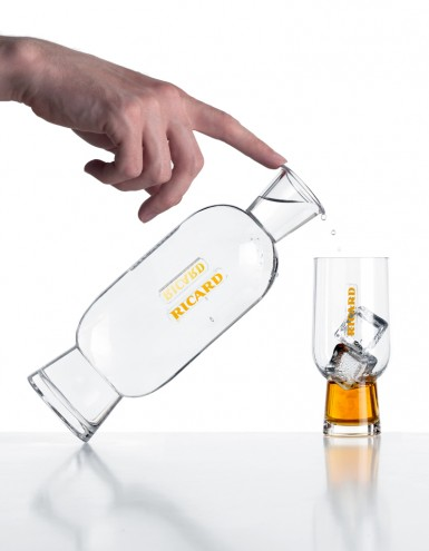 Ricard carafe and glass by Mathieu Lehanneur.