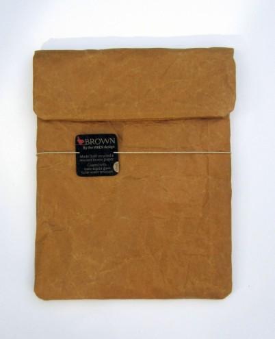 Brown Paper iPad/Tablet Sleeve by WREN design.