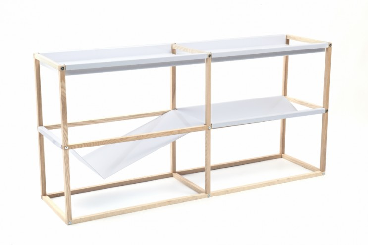 Shelving unit by Jan Douglas for Mr Price Home CoLab.