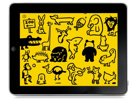Petting Zoo app by Christoph Niemann.