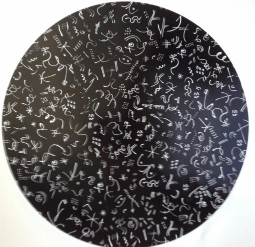 Walter Battiss artwork on ceramic by Mervyn Gers.