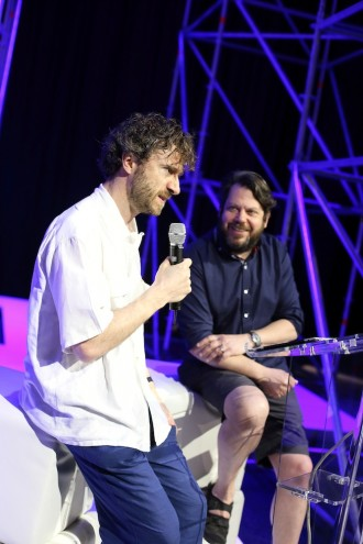 Thomas Heatherwick and Daniel Charny in conversation at the Events Arena.