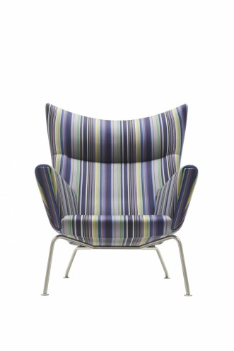 Paul Smith redesigns Carl Hansen & Son's iconic Shell Chair in collaboration with Maharam.