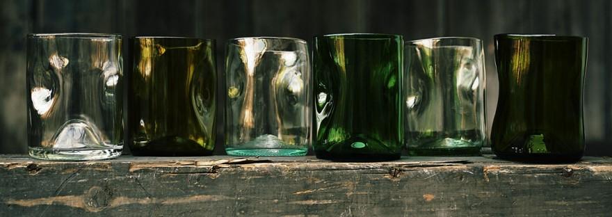 Jesper Jensen's fire-polished recycled glasses.