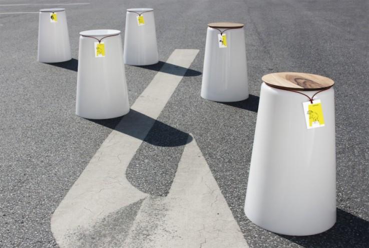 Statthocker stool by Oliver Bahr and Bastian Demmer.
