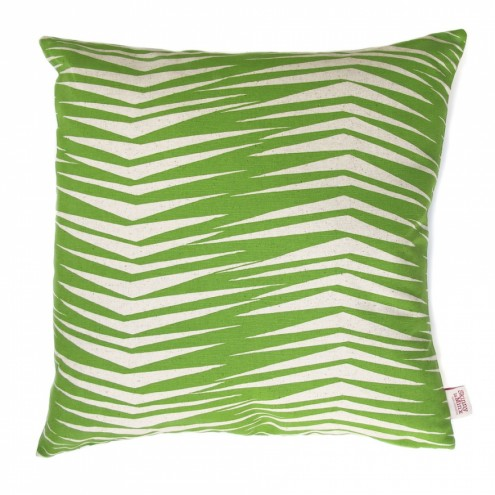 Fronds: At one view, this design is all jagged, crazy, noisy, jarring shapes but a shift in perspective evokes the soothing shadow play of palm fronds.