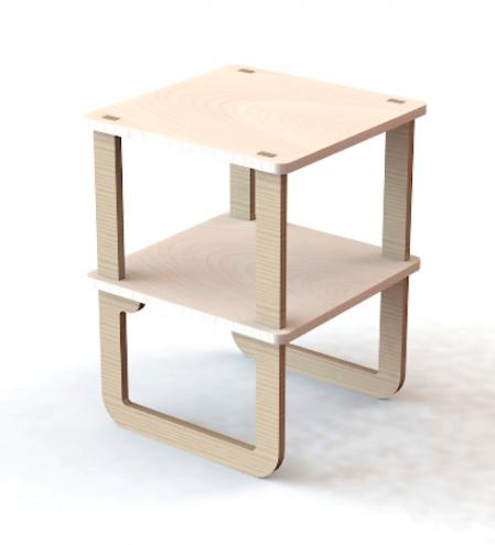 Side table by Unfayzd Design.