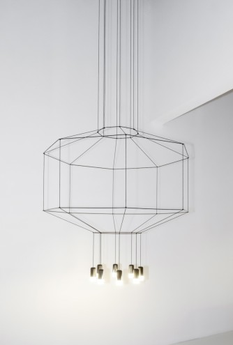 Other products in the exhibition GATHERING: From Domestic Craft to Contemporary Process by Lidewij Edelkoort & Philip Fimmano includes Arik Levy's Wireflow 2014 chandelier.