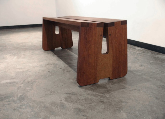 Gallery bench by Studio Propolis.