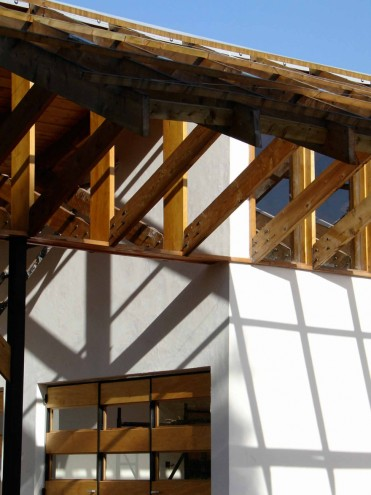 Timber work on a house by Studio Propolis.