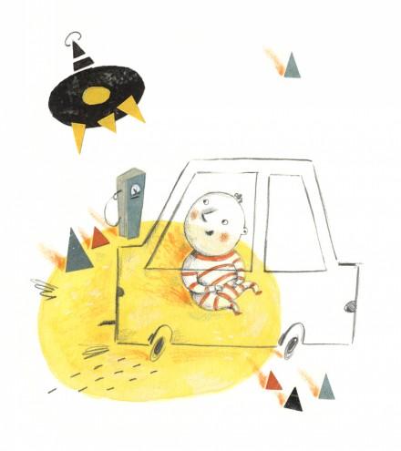 Editorial illustration for High Life magazine by Maria Lebedeva.