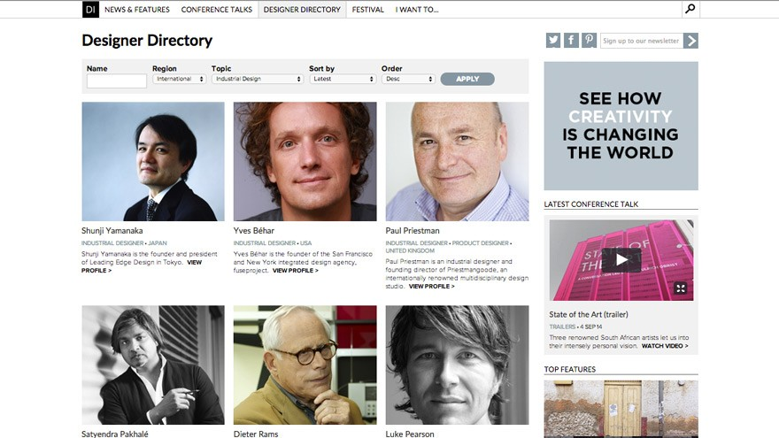 Design Indaba's Designer Directory