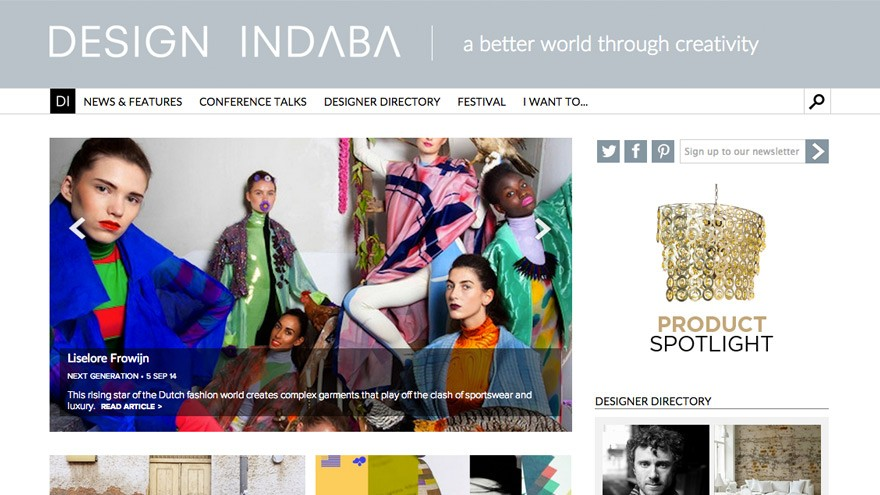 Design Indaba's new home page