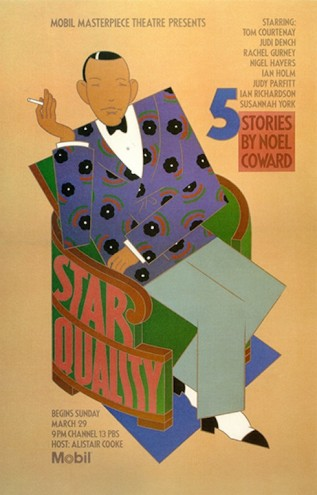 Noel Coward poster by Seymour Chwast.