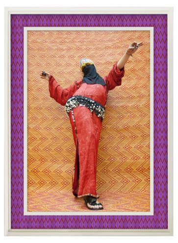 """Man Bellydancer, 2012:1433"", by Hassan Hajjaj, courtesy of the Third Line Gallery, Dubai."