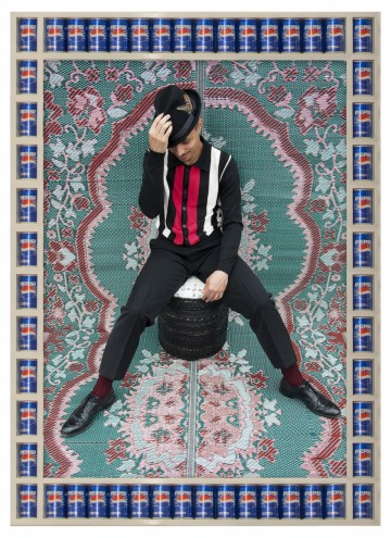 """Vocalist Jose James, 2009:1430"" by Hassan Hajjaj, courtesy of the Third Line Gallery, Dubai."