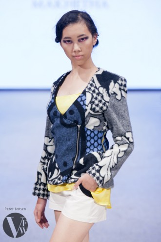 "Thabo Maktha Designs' ""Kobo Ea Bohali"" collection at Vancouver Fashion Week 2014."