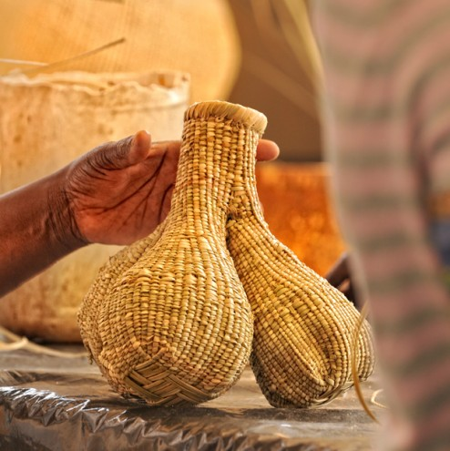 Matali Crasset basket-making workshop with Bulawayo Home Industries. Photo: Eric Gauss/Dogs on the Run.