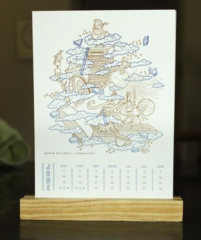 Artist's Almanac 2015 by Essie Letterpress.