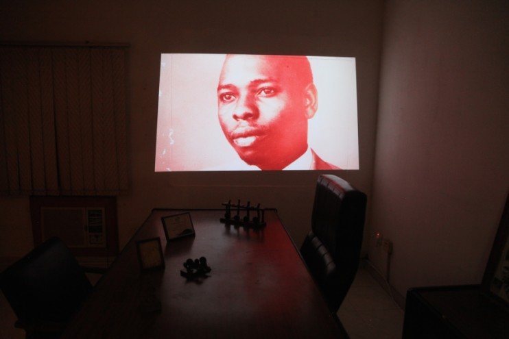 Windowall Gallery in Ken Saro-Wiwa's office.