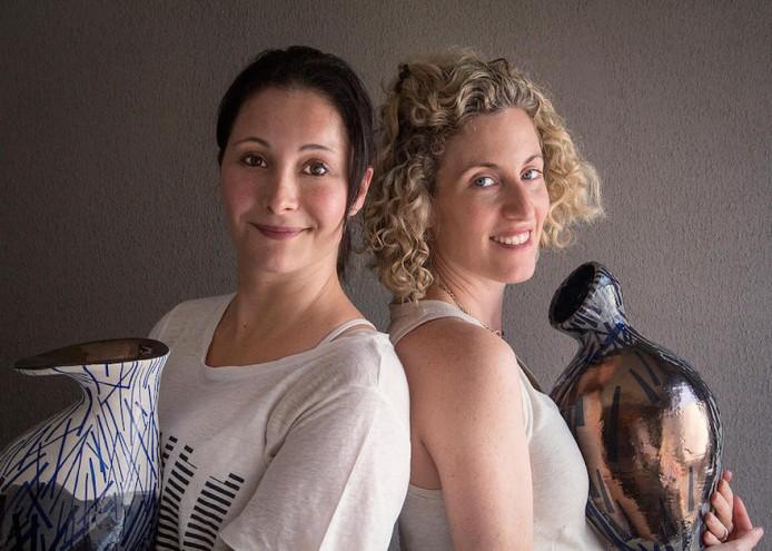 ine artist Galia Gluckman, left, and ceramicist Martine Jackson.