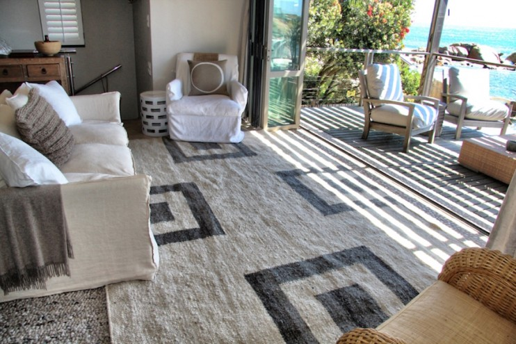 The Masana Collection is a new range of hand woven rugs, each made by a single artisan from natural hand spun yarn.