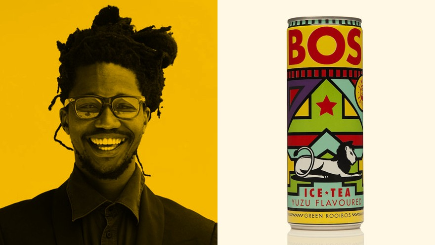 Ofentse Letebele and his winning can design.