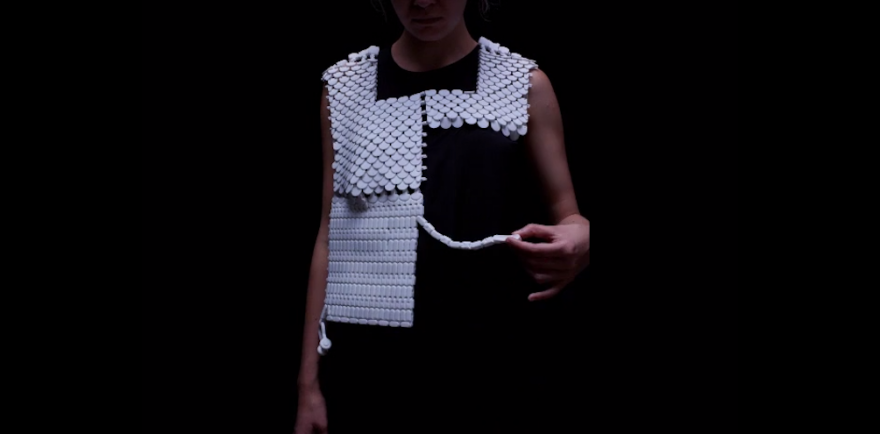 Bezalel Academy graduate Nitzan Kish is using 3D printing to make clothes that protect women from sexual assault in urban centres.
