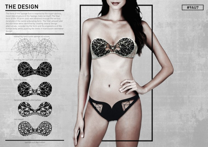 The Sponge Suit: A bikini made from super absorbent material could be used to help clear pollutants out of the oceans
