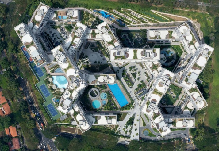 The Interlace, an expansive interlocking network of living and communal spaces, takes the top prize at the World Architecture Festival.