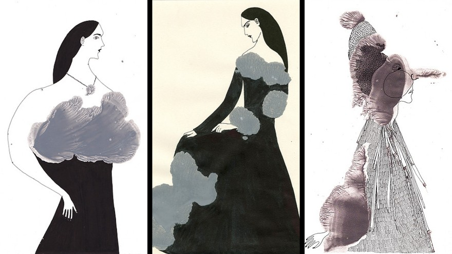 Royal College of Art graduate Kathryn Martin's signature drawing technique embraces an element of chance in illustrating.