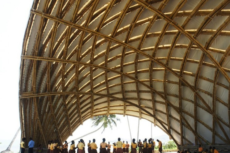 The Haduwa Arts and Culture Institute is a large bamboo canopy that serves as a meeting place for artists and cultural practitioners in Ghana.
