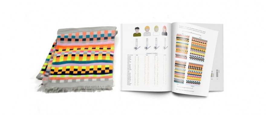 Designed by Iona Inglesby, Dot One converts data from your cheek-swab into unique textiles and graphic prints.