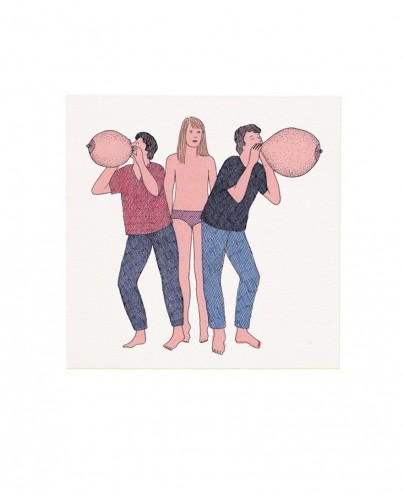 """""""Les Coquins"""" is a book of risqué illustrations by French artist Marion Fayolle."""