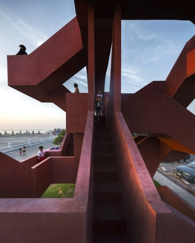 Billed as the world's most popular and prestigious prize for up-and-coming architects, this year's winner designed a concrete playground for kids and adults.