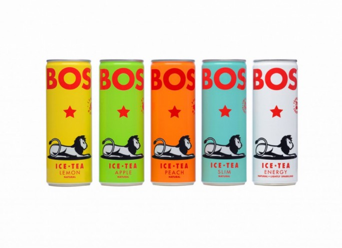 Bos Ice Tea. Packaging design by The President.