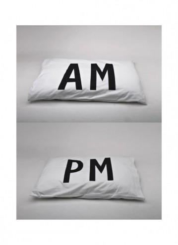 AM/PM pillowcase designs by Daniel Ting Chong.