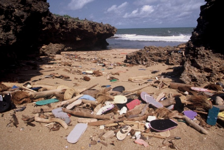 More plastic on the beach.